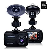 TOGUARD Full HD 1080P Dash Cam Mini Dashboard Camera Car Driving Recorder, Motion Detection,16GB Micro SD Card Included