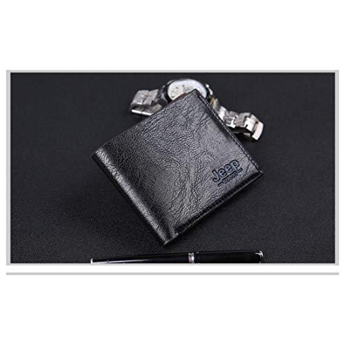 Brown Olprkgdg Black Grande Hommes Zippé Portefeuille Pour Capacité Amovible Vintage color Reddish UUvCO