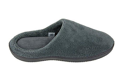 Moxo Men S Coral Fleece Bedroom Slippers Footwear Memory Foam Clogs Grey 44 45 Eur