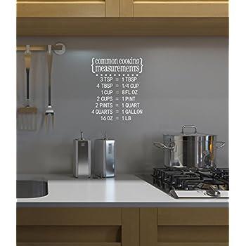 Amazon Com The Vinyl Design Company Common Cooking Measurements