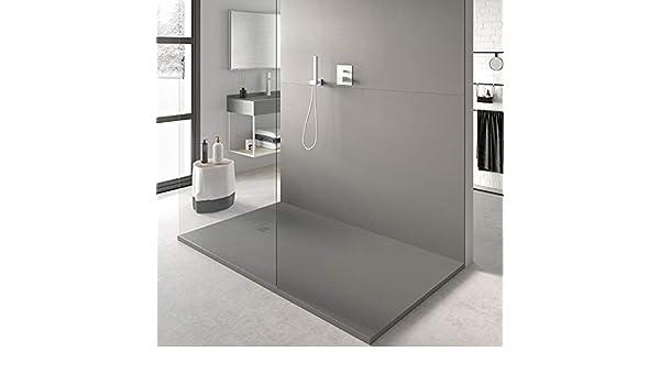 Plato de Ducha Resina SLATE de NUOVVO® 80 cm de ancho GRIS OLIVA: Amazon.es: Bricolaje y herramientas
