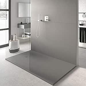 Plato de Ducha Resina SLATE de NUOVVO® 85 cm de ancho GRIS OLIVA: Amazon.es: Bricolaje y herramientas