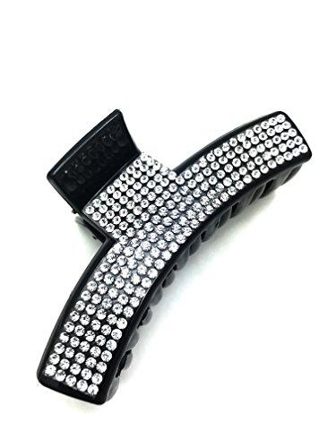 MeeTHan Elegant Medium Sparkling Crystal Hair Claw Jaw Hair Clip :H24 (Crystal - Japanese Designers Eyewear