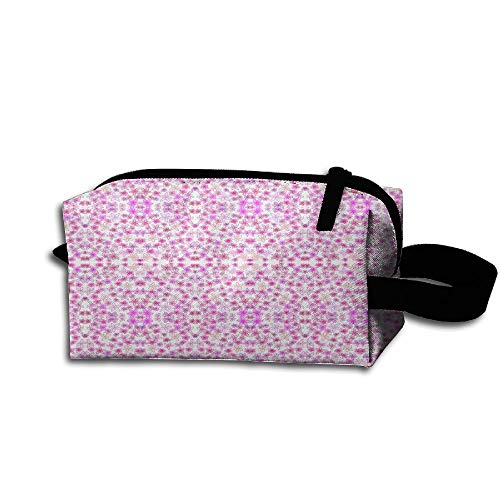 Hfoefgk Portable Travel Cosmetic Organizer Clutch Pouch Bag Zipper Closure Feelin' Groovy Fabric Flower Print (Feelin Groovy Accessory)