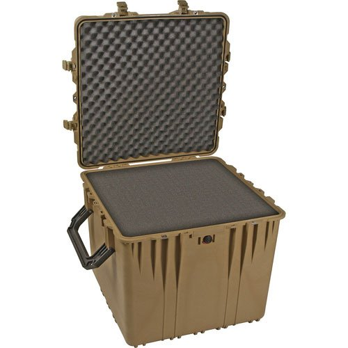 Pelican Products 0370-000-190 Pelican 0370-000-190 Large Cube Case with Foam (Desert Tan)