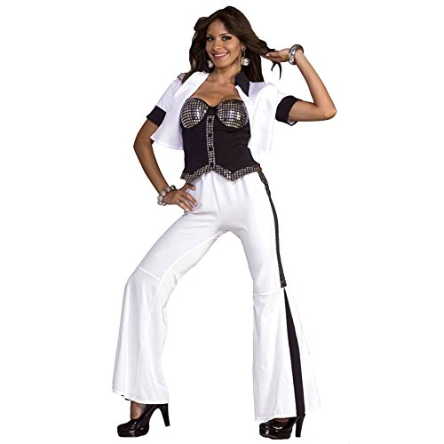 Forum Novelties Women's 70's Disco Fever Dancing Diva Costume, Multi, X-Small/Small