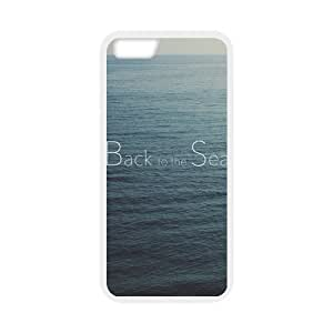 Back To The Sea White Stylish Cover Case For Iphone 6 (4.7inch) with high-quality Silicon Rubber