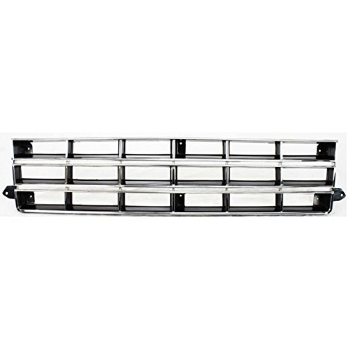 Koolzap For 83-90 S-10 Pickup Truck Front Grill Grille Assembly Chrome GM1200370 14067219
