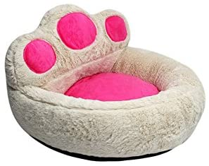 Smoosky Best Pet Supplies Deluxe Bolster Bear s Paw Comfortable Round Pet Bed for Dogs Cats