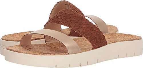 Sperry Top-Sider Women's Sunkiss Pearl Sandal, Brown/Gold, 7 Medium US