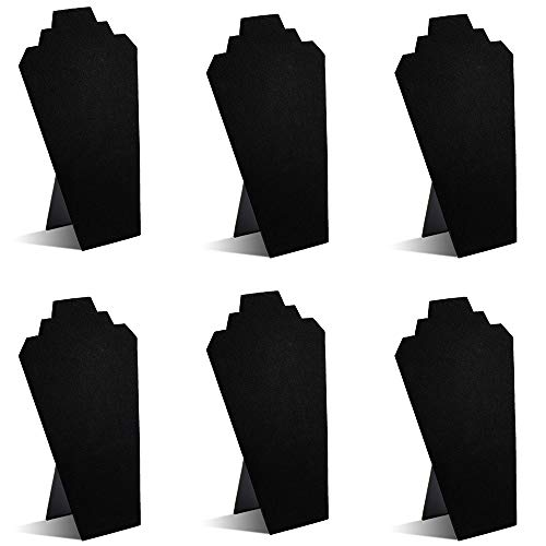 (TWING Black Velvet Necklace Jewelry Display Organizer Stand 6pcs/pack, 12.5inches)