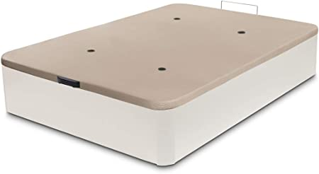 Dormidán - Canapé abatible de Gran Capacidad con Esquinas Redondeadas en Madera, Base tapizada 3D Transpirable + 4 válvulas aireación (90x180cm, ...