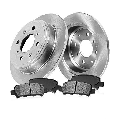 - REAR 226 mm Premium OE 4 Lug [2] Brake Disc Rotors + [4] Metallic Brake Pads
