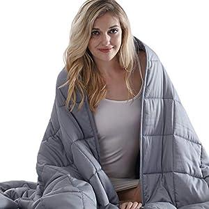 Kawaii_Kids Weighted Blanket 2.0 Heavy Weighted Blanket 15 lbs for Adults,Kids, Better Deeper Sleep. (48''x78'' Dark Grey)