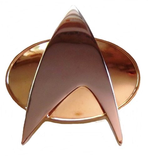 Star Trek Next Generation Authentic Full Size Communicator Metal Uniform Pin ()