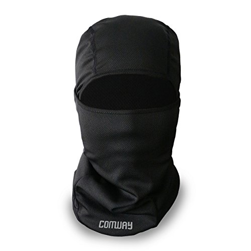 Face Cover Full Face Balaclava Mask - COMWAY Face Shield Winter Hats Cold Mask Ski Mask Face Warmer Sports Breathable Mask Lightweight and Slim for Men (Shield Hat)