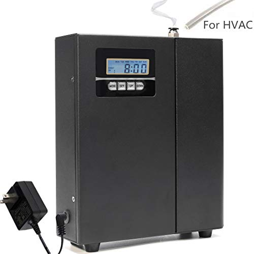 Kevinleo Scent Air Machine HVAC Powerful Effect,Waterless,Flexible Timers Setting Monday-Sunday,Cover 860-1,100 sq.ft. Area,7''(L) x2.5''(W) X9''(H),Deliver Scent in Office,12V US,Connect HVAC System