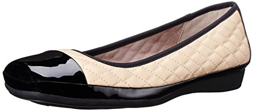 Velma Ballet Flat, Taupe, 9.5 M US (Cap Toe Quilted Flats)