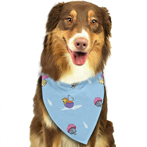 OURFASHION It's Raining, Cats and Dogs! Bandana Triangle Bibs Scarfs Accessories for Pet Cats and -