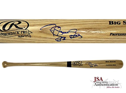 Darryl Strawberry Autographed/Signed Rawlings Big Stick Blonde Bat with