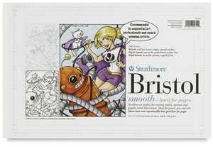 11X17 2 PLY PLATE BRISTOL 24/PACK by Strathmore