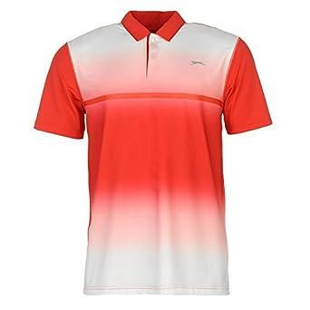 Slazenger - Polo de golf perforado y ligero de manga corta para ...