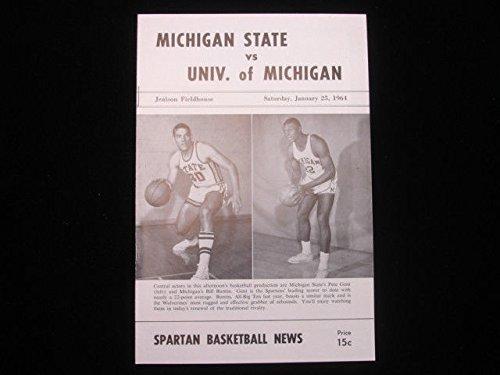 January 25, 1964 Michigan State vs. Univ. of Michigan Basketball Program EX+