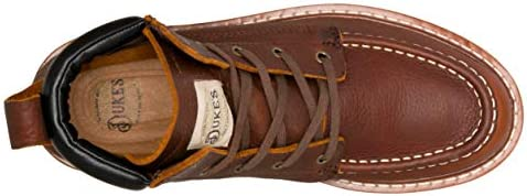 Portland Leather Boot with Premium Cushion Insole Dukes Mens Boots