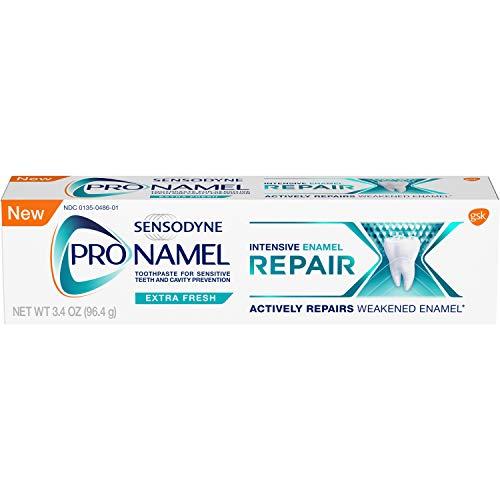 Sensodyne Pronamel Intensive Enamel Repair Toothpaste for Enamel Strengthening, Extra Fresh, 3.4 Ounces