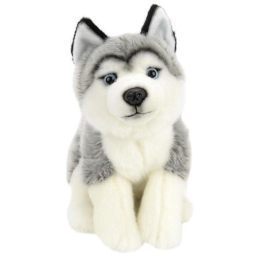 Plush 10 inch Husky - Gray and White (Dog 10