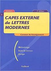 Capes externe de lettres modernes