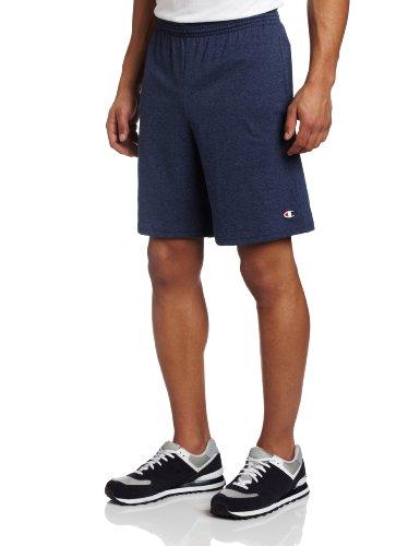 Champion Men's Jersey Short With Pockets, Navy