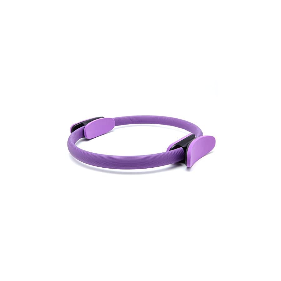 Kanstore Yoga Tool Dual Grip Pilates Magic Ring, Pilates Resistance Ring for Toning and Fitness (Purple)