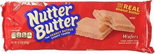 Peanut Butter Wafers (Mondelez Biscuit Nabisco Nutter Butter Cookies, 10.5 oz)