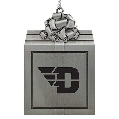 University of Dayton -Pewter Christmas Holiday Present Ornament-Silver