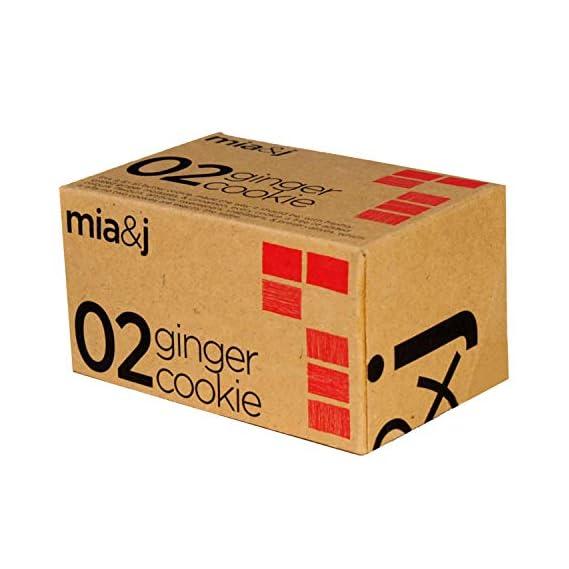 Mia&J Ginger Cookie | Crunchy, Freshly Grated Ginger, Cinnamon & Butter | 120 Grams