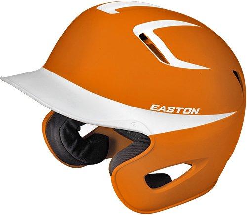 Easton Stealth Grip 2Tone Batting Helmet, Orange/White