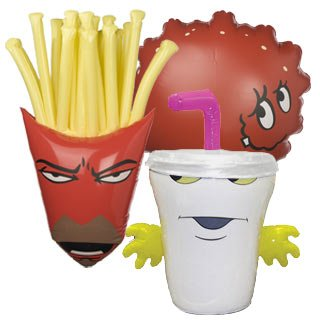 Aqua Teen Hunger Force Inflatable Figures (Frylock Aqua Team Hunger Force)