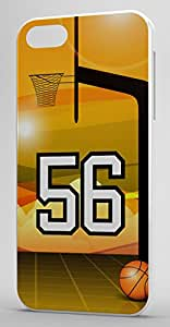 Basketball Sports Fan Player Number 56 Clear Rubber Decorative iPhone 4/4s Case