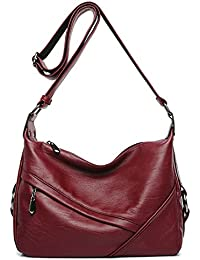 Women s Retro Casual Hobo Shoulder Bags Soft PU Leather Crossbody Bags for  Women f6a22a5083