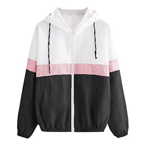 Amazon.com: Easytoy Womens Lightweight Packable Waterproof Raincoat Outdoor Hooded Rain Bomber Jacket Pockets Windbreaker Coat: Sports & Outdoors