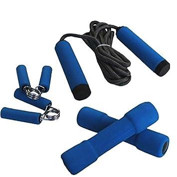 Takestop® Juego de 5 piezas Fitness empuñadura blanda 2 pesas pesetti 1 kg Hand Grip cuerda para saltar 270 cm pinzas manos: Amazon.es: Electrónica