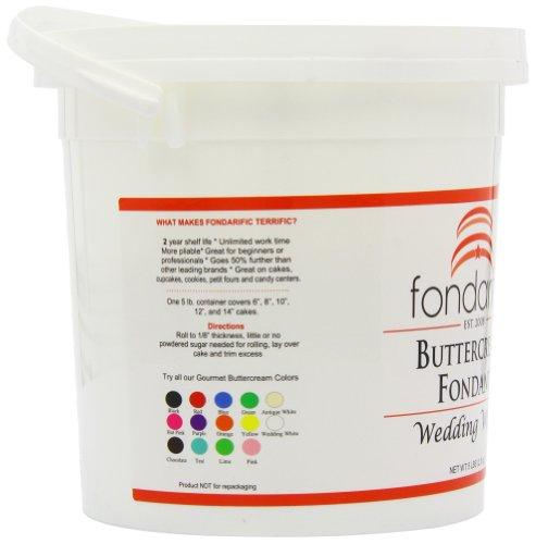 Fondarific Buttercream Wedding White Fondant, 5-Pounds by Fondarific (Image #8)