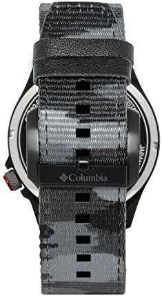 Columbia Canyon Ridge Stainless Steel Quartz Watch with Nylon Strap, Grey Camo, 10 (Model: CSC02-002)