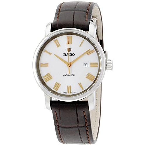 Rado Diamaster White Dial Leather Strap Ladies Watch R14050126