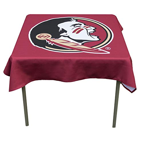College Flags and Banners Co. Florida State Seminoles Logo Tablecloth or Table Overlay -