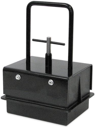 """Heavy-Duty Magnetic Bulk Parts Lifter with Release, 6.25"""" Length, 4.75"""" Width, 9.25"""" Height Including Handle, 8 to 9 Pounds Capacity, 1 Each"""