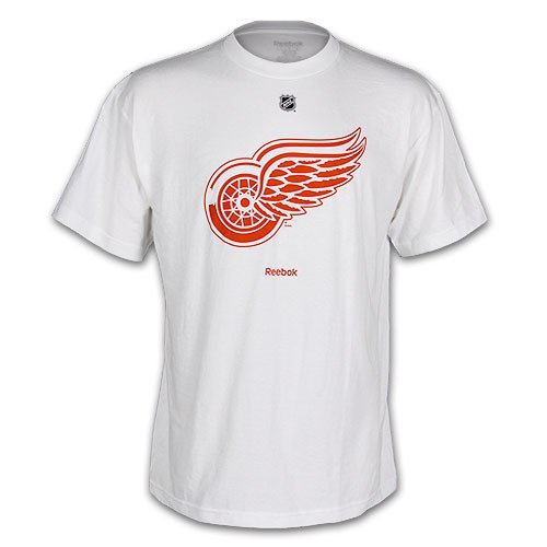 NHL Detroit Red Wings White Primary Logo T-Shirt Men's Small