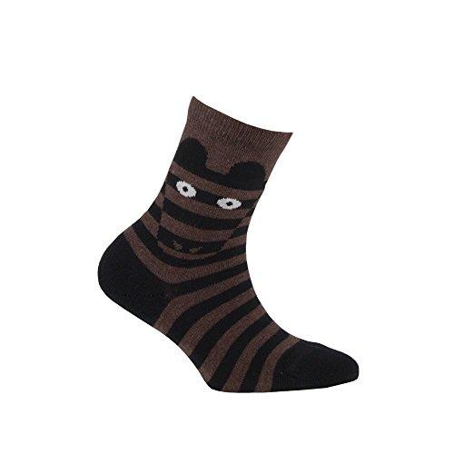 En Coton Zèbre Modèle Mi Achile Jaune chaussettes TwIUH6xnq0