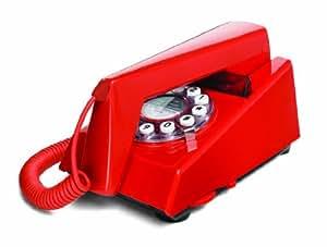 Wild & Wolf Trim Phone - Teléfono fijo estilo años 70, color rojo [Importado de Reino Unido]